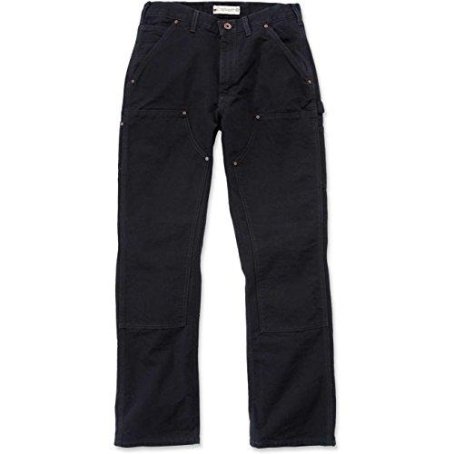 Carhartt Workwear Hose Washed Duck Work Dungaree Arbeitshose, Größe 36 / 32, schwarz EB136 - Dungaree Hose