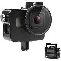 SHOOT Aluminium Legierung Skelett schützende Gehäuse Case mit 52mm UV Filter für GoPro Hero 5 Action Kamera mit Hintere Abdeckung(Schwarz)