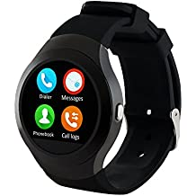 Bingo C5 Black Smart Watch,bluetooth smartwatch compatible with anroid and ios device, sim card supportable smart watch with NANO Toughened Glass Screen .