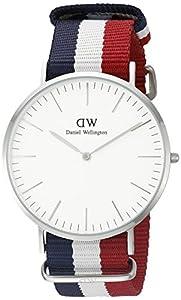 Daniel Wellington - Reloj analógico para caballero de nailon blanco de Daniel Wellington