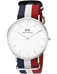 Daniel Wellington Herren-Armbanduhr XL Cambridge Analog Quarz Nylon 0203DW