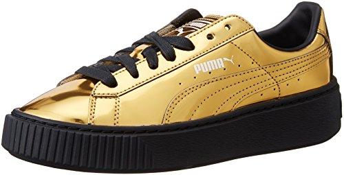 Puma Basket Platform Metallic Gold Sneakers - Scarpe Da Ginnastica Oro Metallizzate Gold Black