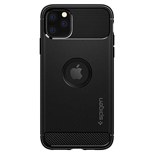Spigen Cover iPhone 11 PRO Max Rugged Armor Progettato per Apple iPhone 11 PRO Max Custodia - Nero