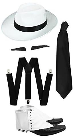 Gangster Kostüm der 1920er Reihe -Zubehör Set Deluxe -Schwarze Hosenträger