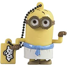 Tribe Los Minions Despicable Me Egyptian - Memoria USB 2.0 de 8 GB Pendrive Flash Drive de goma con llavero, color amarillo