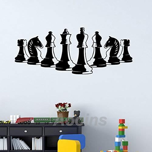 iguren Wandtattoo Schlafzimmer Dekor Strategie Brettspiel Innen Vinyl Wandkunst Wandaufkleber Home Room Wanddekoration 142x56 cm ()
