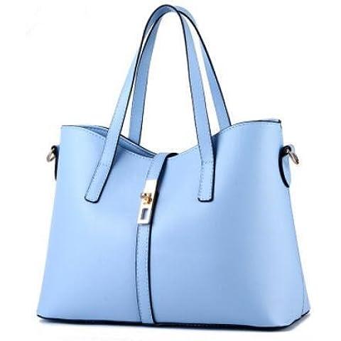 PU in pelle stile semplice multi-colore OL pendolari donne spalla borsa Messenger , light blue