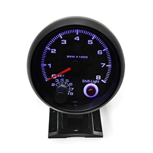 WINOMO Auto Drehzahlmesser 3,75 Zoll Turbo Boost Gauge Alarm Weißlicht Universal Meter