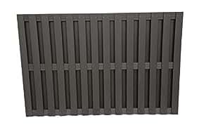 Contemporain Panneau de clôture Composite Graphite 1200x 1828.8