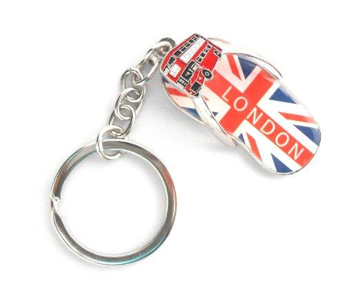 J'aime le Souvenir de Londres / I Love London Union Jack & Bus de Londres / FLIP FLOP / j'aime Londres Keychain - porte-clés Souvenir de Londres + Souvenir de Londres ' SIGNET'' achetez 1 Obtenez 1 gratuit