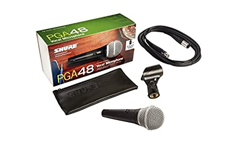 Shure PGA48XLR cardioid microphone for vocals with cable