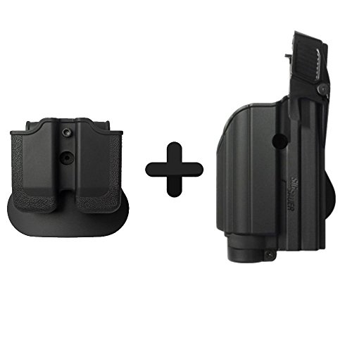 Sig Für Holster 2022 (IMI Defense Z1500 Light Laser Roto Holster & Double Magazine Pouch For Sig Sauer P226, P229 Pro, 2022, P250 Compact / Full size, MK25)