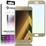 NALIA Schutzglas für Samsung Galaxy A3 2017, 2.5D Full-Cover Displayschutz Handy-Folie, 9H gehärtete Glas-Schutzfolie Bildschirm-Abdeckung, Schutz-Film Phone Screen Protector Glass, Farbe:Gold
