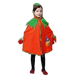 Proumy ◕ˇ∀ˇ◕Baby Halloween Kostüm, Kinder Kinder Kürbis Mit Kapuze Cosplay Cape Robe Jungen Mädchen Mantel Mantel