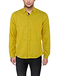 Stylish Casual Slim Fit Shirts For Men By Mark Pollo London (Light Yellow)