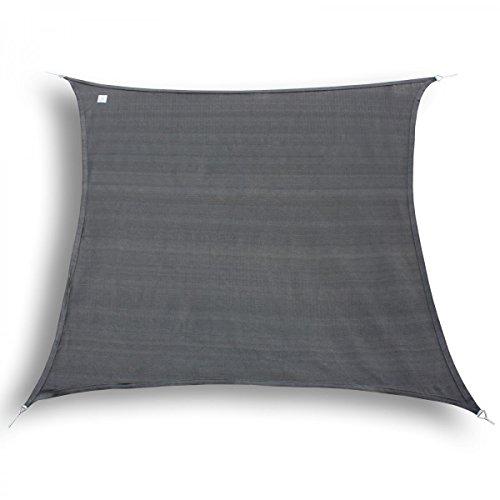 Marken Sonnensegel Sonnenschutz Quadrat quadratisch 2x2 m Graphit