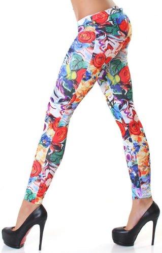 Jela London Damen Leggings mit buntem Muster - 2