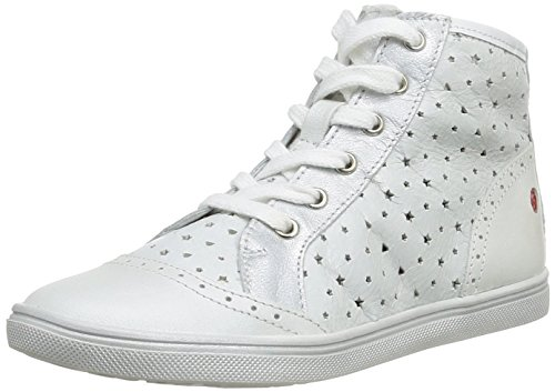 Gbb - Gena, Sneakers per bambine e ragazze, bianco (19 vte blanc perfo/argent dpf), 25
