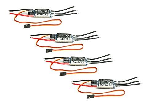 Preisvergleich Produktbild 4x BULL TEC Multicopter Brushless Regler 30A 2S - 6S Lipo Opto SimonK N-FET