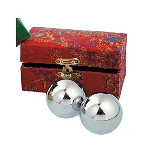 dsnetz Qi-Gong-Kugeln silberfarben mit Klangwerk 2St. 4cm mit Box | Meditation Klangkugeln | Esoterik Geschenke günstig kaufen