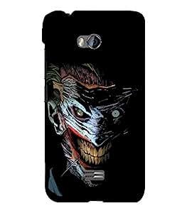 printtech Joker Gotham Art Scary Back Case Cover for Micromax Bolt Q336