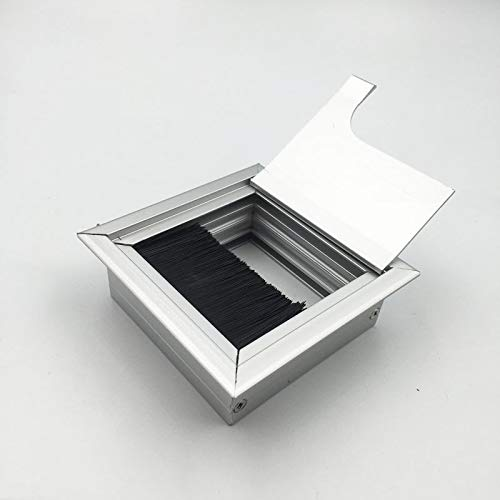 Tülle Loch Deckel Desktop-Line-Box Pinsel Aluminium-Draht-Box Quadrat-Kabel-Box Box-Box-Bildschirm...