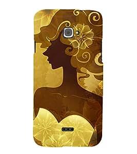 angel girl Designer Back Case Cover for Infocus Bingo 50