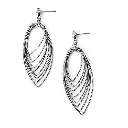 YXYDNPY Metall Blatt Ohrringe Retro Style Long Leaf Natur baumeln Ohrringe für Frauen,B