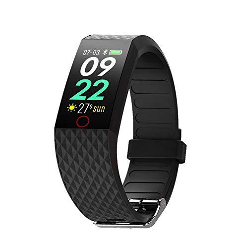 F-dujin Monitorizador de Actividad física, Monitorizador de frecuencia cardíaca, Pulsera Inteligente Monitor...