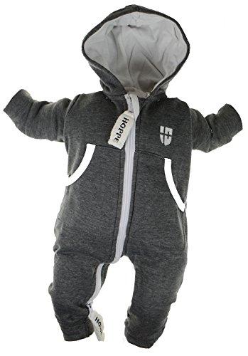 Gennadi Hoppe Baby Jumpsuit - Overall, dunkelgrau, 36-42