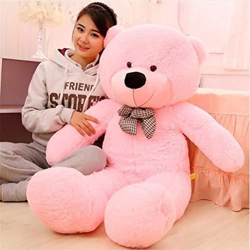 GURUDEV Stuffed Teddy Bear (Pink, 3-ft)