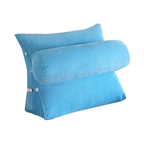 YXLBZ Keilkissen, Dreieckige Rückenlehne Stützwinkel Kissen Einstellbar Lesekissen Sofa Bett Rest Pad Halskragen Perle Baumwolle (Farbe : B, größe : 60 * 50 * 25cm)