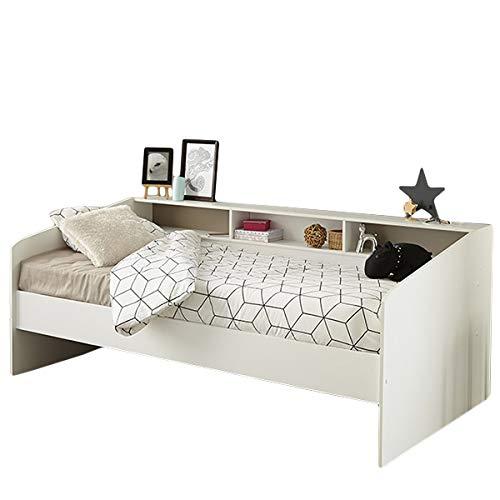 Funktionsbett Sleep Parisot 90*200 cm weiß Jugendzimmer Kinderzimmer Gästezimmer Bett Kinderbett Jugendbett Bettliege Regalwand