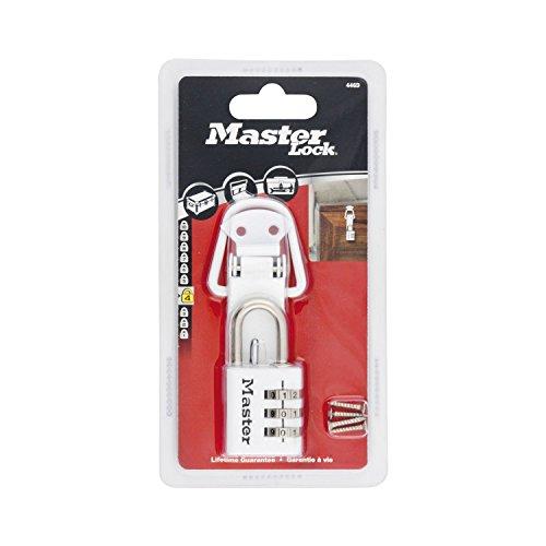 Master Lock 446EURD Set Fermaglio Cerniera, Acciaio e Lucchetto, Alluminio