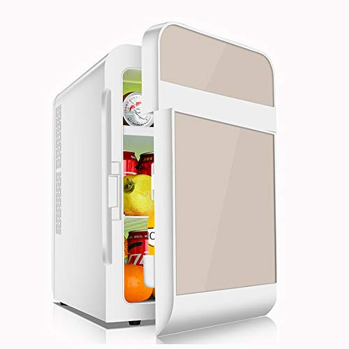KUKUGG 20L Mini Car Kühlschränke Einzel- / Doppeltür Tragbarer Freezer 12V / 220V Compact Quiet AC + DC-Strom Compatibility Elektrischer Kühlschrank kühlerer und wärmerer Outdoor-Camping-Picknick Reis