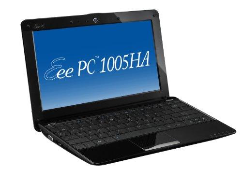 Asus EEE PC 1005HA-M 25,7 cm (10,1 Zoll) Netbook (Intel Atom N270 1.6GHz, 1GB RAM, 160GB HDD, Grafik im Chipsatz integriert, Win 7 Starter) schwarz