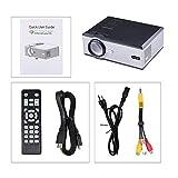 TianranRT Uhappy U88 Video Projektor für Heim Theater Projektor mit HDMI USB VGA AV (Weiß)