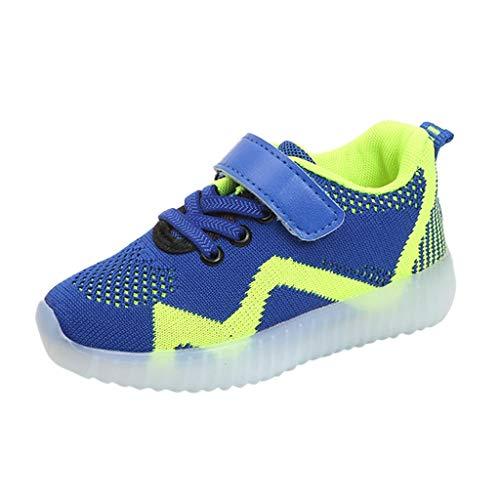 Rokoy Bambini Scarpe Luminosi Sneakers con Le Luci Accendono Scarpe Sportive - Running Sneakers Traspirante Basso Ultraleggero Sport Baskets Shoes Stivaletto Unisex(26,Verde)