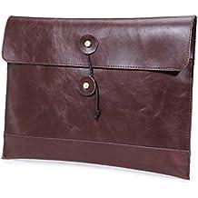 GossipBoy Espandibile portatile cartella di file in pelle sintetica per