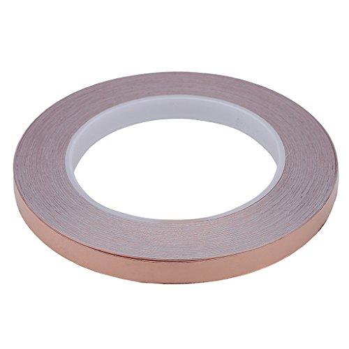 Preisvergleich Produktbild Gazechimp Kupferfolie Klebeband Kupferblech Abschirmband Leitfähige EMI Abschirmung für Gitarren-10mm × 20M