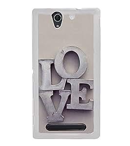 FUSON Love Letters In Metals Designer Back Case Cover for Sony Xperia C4 Dual :: Sony Xperia C4 Dual E5333 E5343 E5363