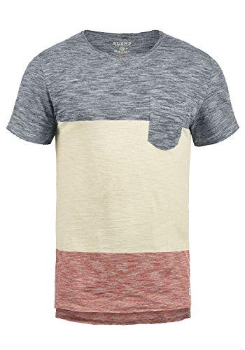 Blend Johannes Herren T-Shirt Kurzarm Shirt Mit Rundhalsausschnitt Aus 100{358c39679be159a62bc84a50b9f8e33500de69ed9b043b8999ae8b21a6b9cafd} Baumwolle, Größe:M, Farbe:Mood Indigo (74648)