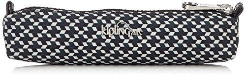 Kipling PHOIBE Estuches, 20 cm, 0.3 Liters, (Retro Geo Black)