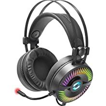 Speedlink Quyre RGB 7.1 Gaming Headset - Gaming Headset with 7.1 Surround Sound (Customizable Sound - RGB Lighting with 16.7 Million Colours - 20Hz - 100kHz for PC/Notebook/Laptop Black