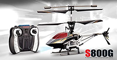 4 Channel Syma S800G Rc Helicopter Remote Control Helicopter with extra canopy and rotor blades