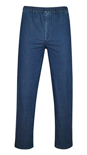 Stretch Jeans Schlupfhose ohne Cargotaschen Herbst-Kollektion-Blue-3XL (Stretch-jeans Am Besten)