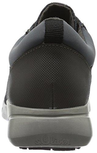 s.Oliver 23615, Baskets Basses Femme Gris (Grey Comb 201)