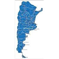POSTERLOUNGE Póster 20 x 40 cm: map Argentina de Editors Choice - impresión artística de alta calidad, nuevo póster artístico