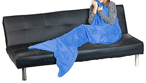 Wilson Gabor Meerjungfrauendecken: Weiche Meerjungfrau-Decke mit Flosse für Erwachsene, 180 x 70 cm, blau (Decke im Meerjungfrauen-Stil) - Wilson Decke