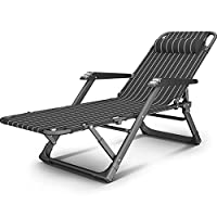 Axdwfd Zero Gravity Chair, Folding Reclining, Folding Sheets People Home Lunch Break Chair Adult Simple Office Folding Reclining Multi-function Portable Camp Bed with Massage Handrail
